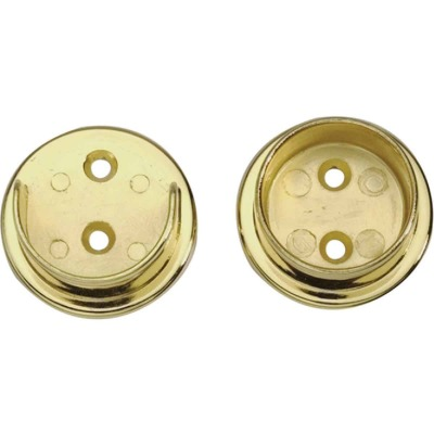 "Polished Brass Closet Flange Set 1-1/2"" Tubing"