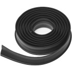 National Garage Door 10 Ft. Black Vinyl Weatherstripping For Wood Door Image 2