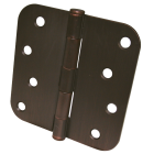 Ultra Hardware 4 In. x 5/8 In. Radius OIl Rubbed Bronze Door Hinge (3-Pack) Image 1