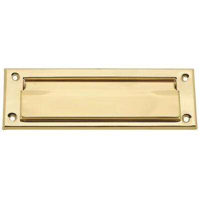 National 1-1/2 In. x 7 In. Polished Brass Mail Slot
