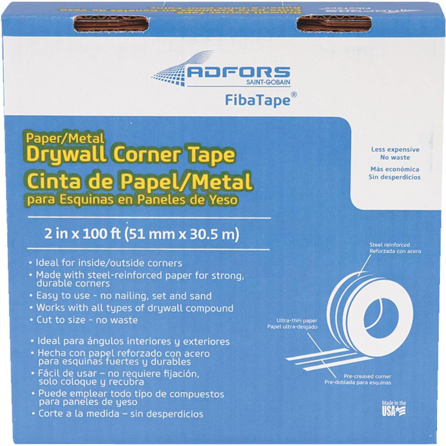 FibaTape 2 In. x 100 Ft. Steel Reinforced Corner Drywall Tape Image 1