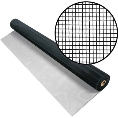 Phifer 30 In. x 100 Ft. Black Aluminum Screen