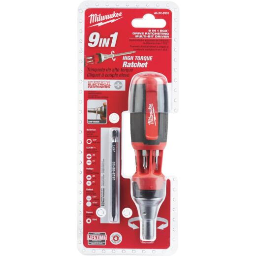 Milwaukee 9-in-1 ECX Ratcheting Screwdriver