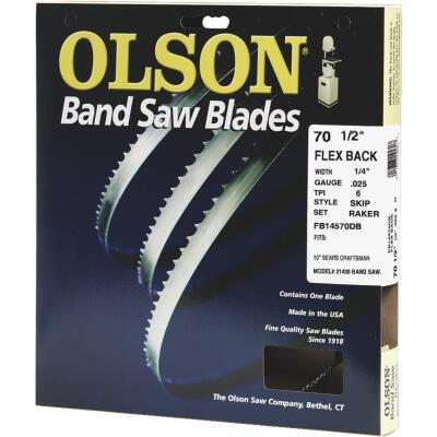 Olson 70-1/2 In. x 1/4 In. 6 TPI Skip Flex Back Band Saw Blade