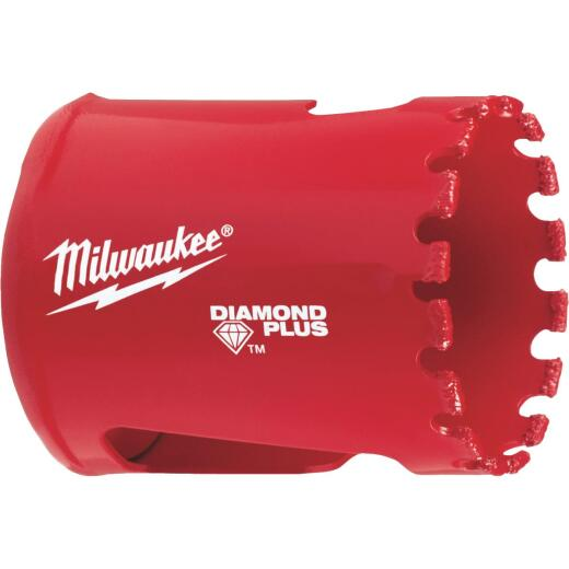 Milwaukee Diamond Plus 1-1/2 In. Diamond Grit Hole Saw