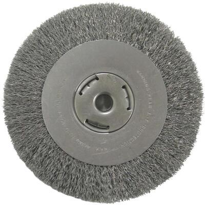 Weiler Vortec 8 In. Crimped Bench Grinder Wire Wheel