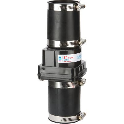 Drainage Industries 2 In. ABS Thermoplastic In-Line Sump Pump Check Valve