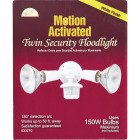 White Motion Sensing Dusk To Dawn Incandescent Floodlight Fixture Image 2