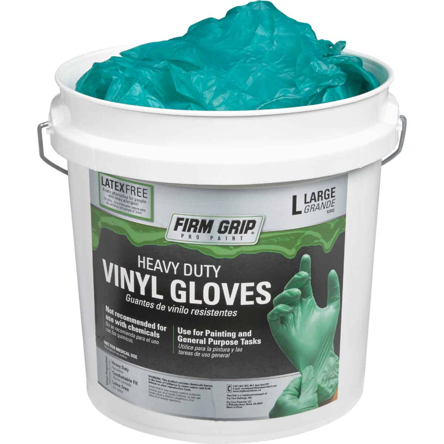 Firm Grip Large Heavy-Duty Vinyl Disposable Glove (300-Pack) Image 1