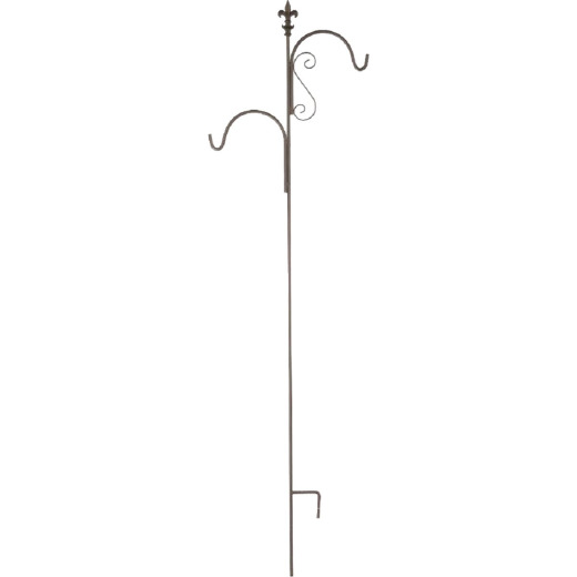 American Gardenworks Lafayette 91 In. Black Steel Shepherd Hook