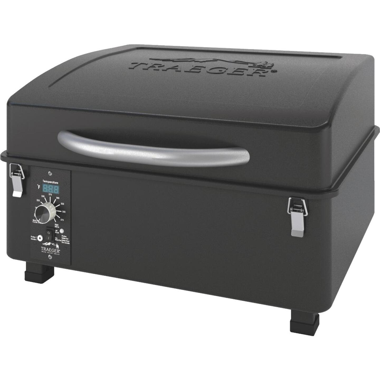Traeger Scout Black 16,000-BTU 184 Sq. In. Portable Wood Pellet Grill Image 1