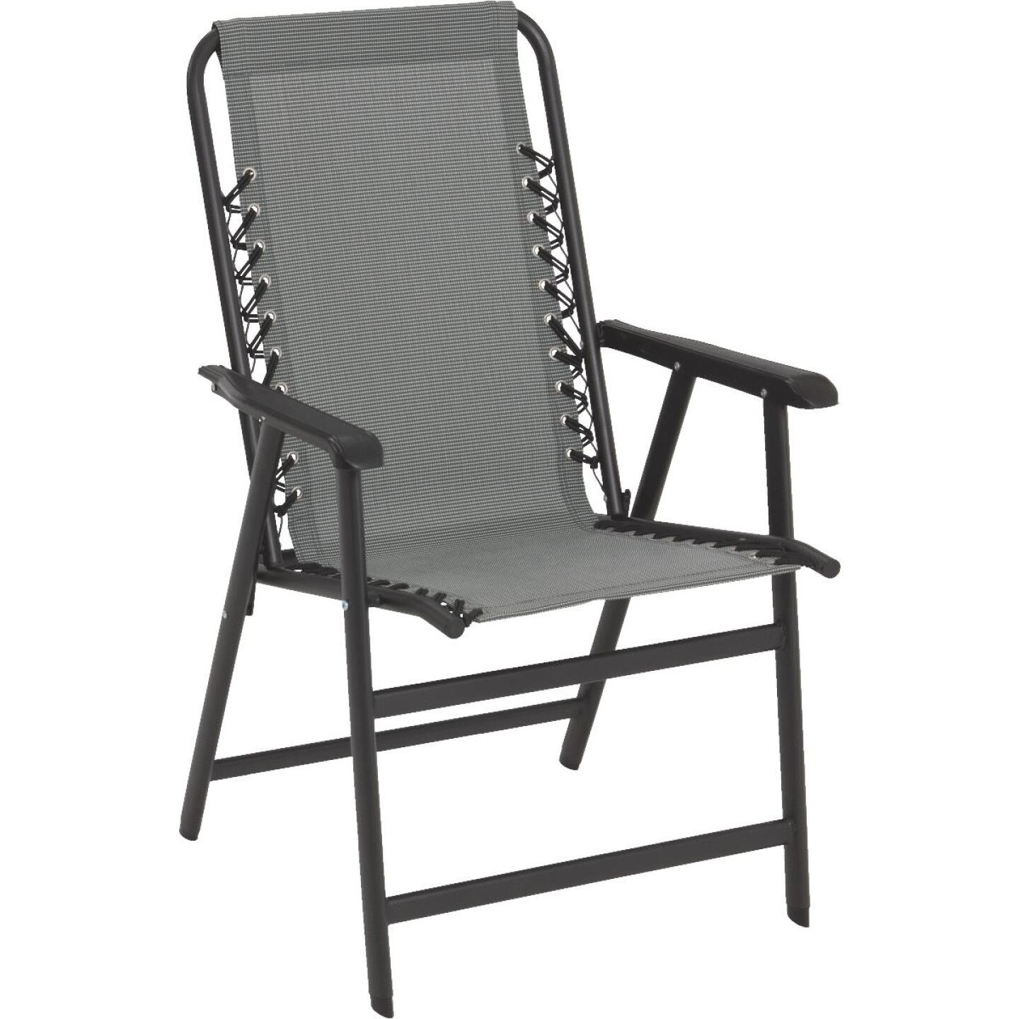 Outdoor Expressions Seville Gray Sling Folding Chair Image 1