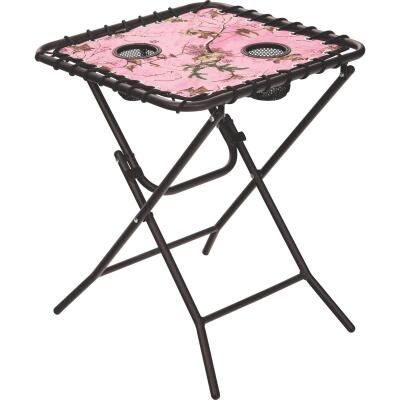 Outdoor Expressions Real Tree Pink 18 In. Square Steel Folding Side Table
