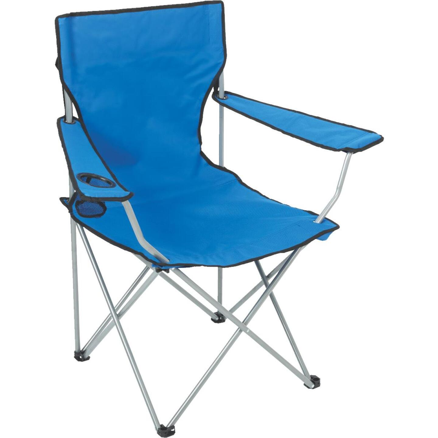 Outdoor Expressions Blue Polyester Folding Chair Image 1