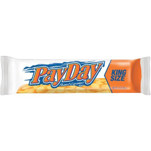 Payday King Size 3.4 Oz. Peanut Caramel Candy Bar